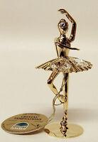G 3754 Ballerina Gold Swarovski Steine Kristall 24 Karat Crystal 9,5 cm