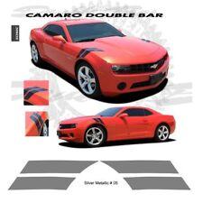 Chevrolet Camaro 2010-2013 Double Bar Stripes Graphic Kit - Metallic Silver