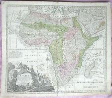 """Antique Map Africa """"Africa Iuxta Navigationes"""" Matthias Matthaus Seutter C1730"""