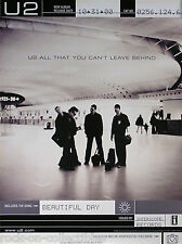 U2 2000 CAN'T LEAVE BEHIND ADVANCE PROMO POSTER ORIGINAL