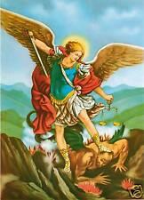 Catholic Print Picture SAINT ST. MICHAEL w/ DEVIL - ready to frame