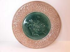 c1800s ANTIQUE ETRUSCAN MAJOLICA PLATE MYTHOLOGICAL FIGURE GRIFFIN SMITH HILL 9""