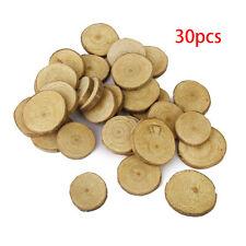 30pcs Rustic Wedding Pine Wood Tree Slices Decor Disc Log for Crafts 3-4cm
