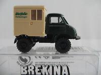 """Brekina 39008 Unimog 411 Koffer (1956) """"Westfalia Melkanlagen"""" 1:87/H0 NEU/OVP"""