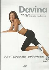 Davina My Three 30 Minute Workouts Exercise Fitness DVD FREE SHIPPING