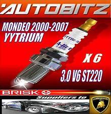 FITS FORD MONDEO ST220 2002-2007 BRISK SPARK PLUGS X6PCES IRIDIUM FAST DISPATCH