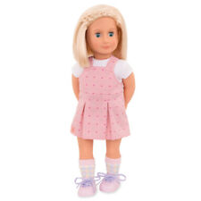 Our Generation - Puppe Naty mit rosa Overall-Kleid 46cm