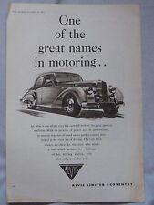 1953 Alvis Original advert No.1