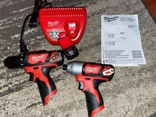 Milwaukee 2407-20, 2462-20 M12 12v Drill/Driver and 1/4 Impact driver. New tools