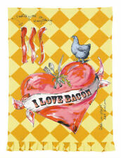 Julia Junkin Design for PHI Cotton Kitchen Tea Towel I Love Bacon - NEW