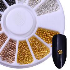 Born Pretty Multi-size 3D Nail Art Beads Rose Gold Silver Black Studs Decoration