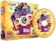 Zoom Karaoke Pop Box - 6 CD+G Set - 120 Super Pop Hits - New!
