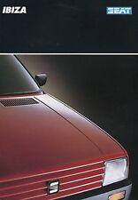 Seat Ibiza folleto 11 88 brochure 1988 auto turismos auto folleto folleto España