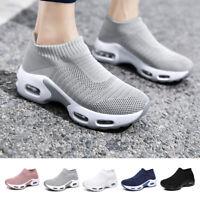 Womens Casual  Air Aushion Sock Shoes Mesh Non Slip Lightweight Running Sneakers