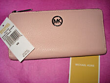 $148 Michael Kors Fulton BLOSSOM Continental Zip Around Leather Wallet - NWT