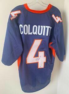 Britton Colquitt Signed Denver Broncos Jersey Beckett BAS COA Tennessee Vols