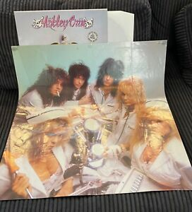 MOTLEY CRÜE  WITHOUT YOU & POSTER VINTAGE PRESSING VINYL RECORD 7559-66637-0