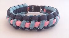 Cancer Research Inspired HandmadeParacord Bracelet