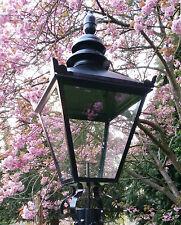 Large Black Traditional Victorian Style Lantern Top Lamp Garden Street Light