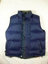 LL Bean Goose Down Puffer Vest, Navy Blue, Men's Large