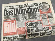 Bildzeitung BILD 01.07.1991 * zum 30. 29. 28. Geburtstag * Jugoslawien