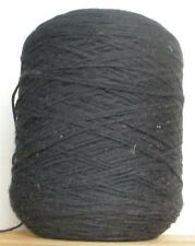 COTTON 4/4 - 850 YPP WORSTED WEIGHT CONE YARN 2 LBS 10 OZS BLACK (C30)