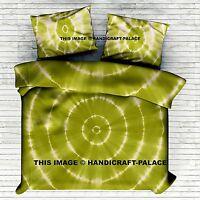 Indien Housse Mandala Teinture Vert Literie Couverture Couette Set