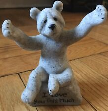 "Quarry Critters Second Nature 2004 Stone ""I Love You This Much"" Bear"