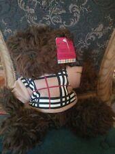 """NWT-HTF-11"""" Burberry Barrington Sweater Plush Teddy Bear"""