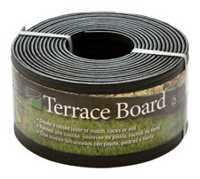 Master Mark  Terrace Board  4 in. H x 20 ft. L Black  Plastic  Lawn Edging