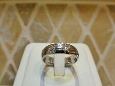 Platinum 6 diamond etoile starlight band ring 6mm wide 12.9g estate 7.75 8 sign