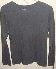Van Heusen Size M Medium 6 Shirt Top Long Sleeve Tee t Heather Gray Cotton