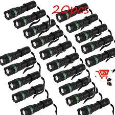 20X High Power 2200 Lumen Zoomable Focus XM-L T6 LED Flashlight Torch Lamp KG