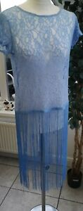 Fabulous Blue Lace Tassle Top Size small 8-10, by Fabulous New with Tags