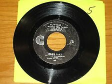 "SOUL 45 RPM - DORIS DUKE - CANYON 35 - ""HOW WAS I TO KNOW YOU CARED"""
