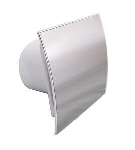 "Bathroom Extractor Fan 100mm4"" Timer Humidity Sensor EI-100H Polished Chrome"