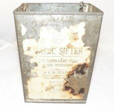 Antique Magic Sifter Flour Sifter B & FH Stanton  Tin  Patent Date 1925