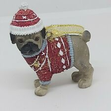 Pug Christmas Tree Figurine Decoration/Ornament Dog Present/Gift