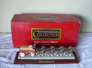EIGHT-HORSE HITCH Figurine F14 Clydesdale Collection Anheuser-Busch