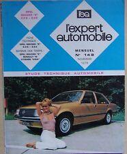 L'EXPERT AUTOMOBILE n° 148 - OPEL REKORD E 2.0 S, 2.0 E - 1978