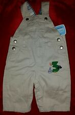 Cherokee baby newborn khaki overalls. 6M. new with tags. boat. car