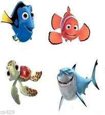 "2"" Disney finding nemo dory shark turtle fish heat transfer iron on character"