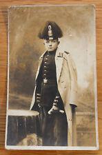Altes Portrait Foto Offizier mit Tschako und Busch Gardeschützen Btl. ?