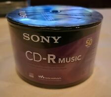 *SEALED* Sony Music CDR 50 Pack 80 min Blank Recordable Audio CD-R 50CRM80RS