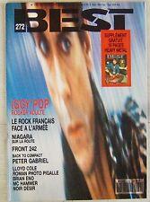Revue BEST Mars 1991 Iggy Pop Niagara Front 242 Peter Gabriel