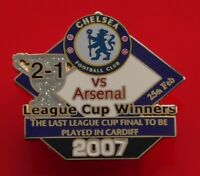 Danbury Pin Badge Chelsea FC Football Club v Arsenal League Cup Winners 2007