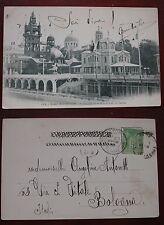 CARTOLINA CARTE POSTALE PARIS EXPOSITION PAVILLONS SUÈDE ET GRÈCE 1900