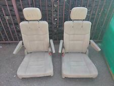 new takeouts 2 BUCKET SEATS Tan Beige Cloth  Jeep Hotrod Bus Van Truck