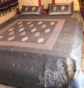 Cotone Lenzuolo Stampato Floreale Indiano Aderente Completo Piatto Foglio Arazzo