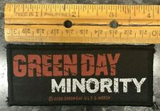 "Vintage Music Patch 2000 Green Day ""Minority"" U.L.T.G. Merch Billy Joe Armstrong"